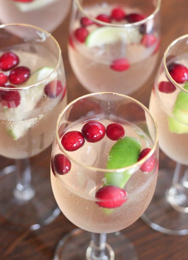 Cranberry Raspberry Lime Mocktails & DIY Monogram Wine Glass Charms
