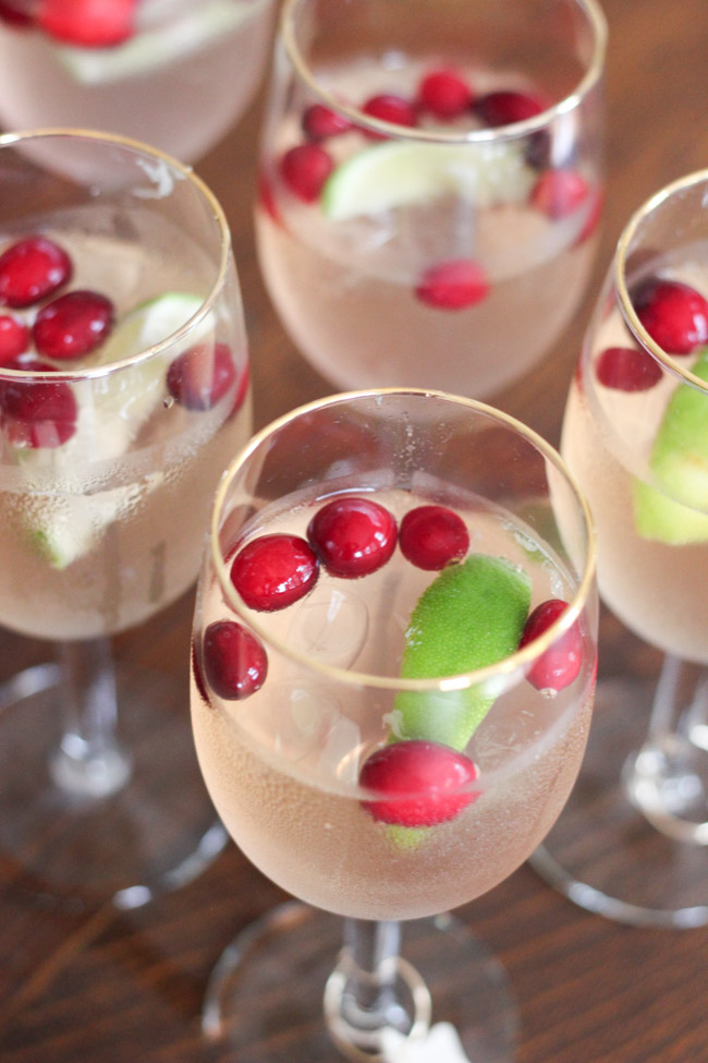 "Make these yummy Cranberry Raspberry Lime ""Mocktails"" -- perfect for the holidays!"