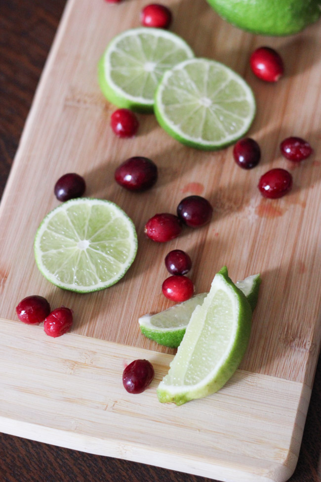 "Make yummy Cranberry Raspberry Lime ""Mocktails"" -- perfect for the holidays!"