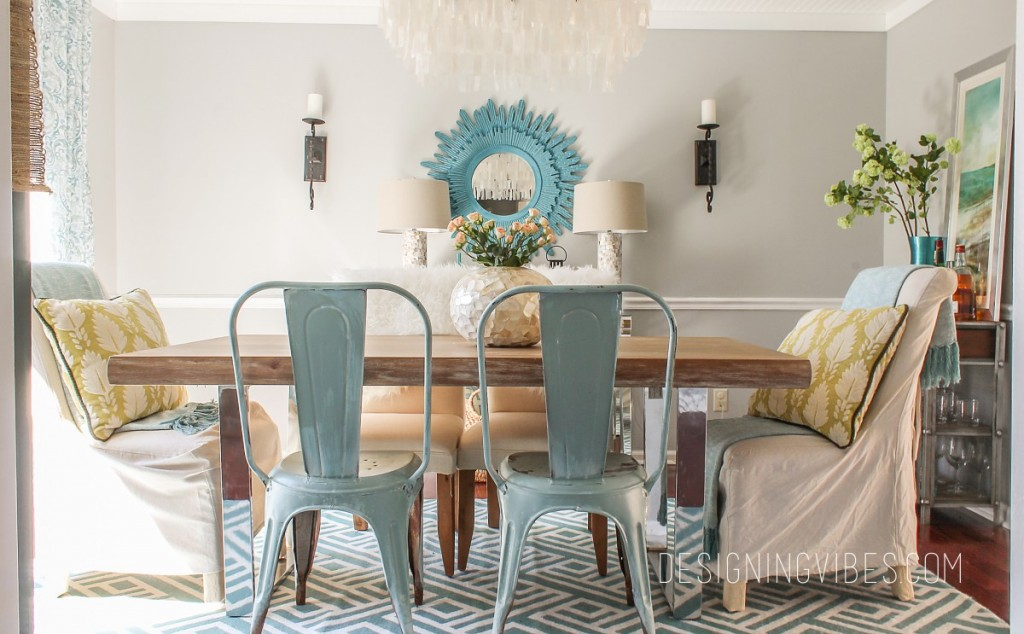 Spring home tour featured at #DIYLikeaBoss