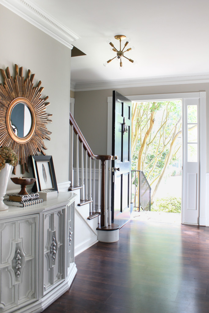 Our entryway makeover plus an amazing artisan lighting source for Sputnik style chandeliers.