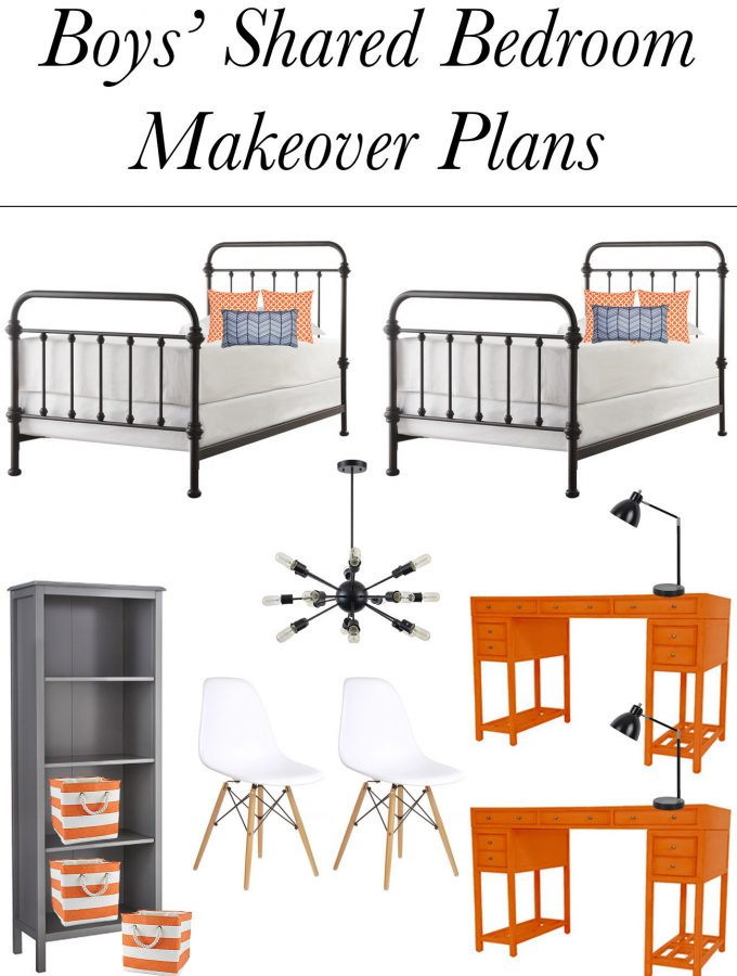 Boys' Shared Bedroom Makeover Plans