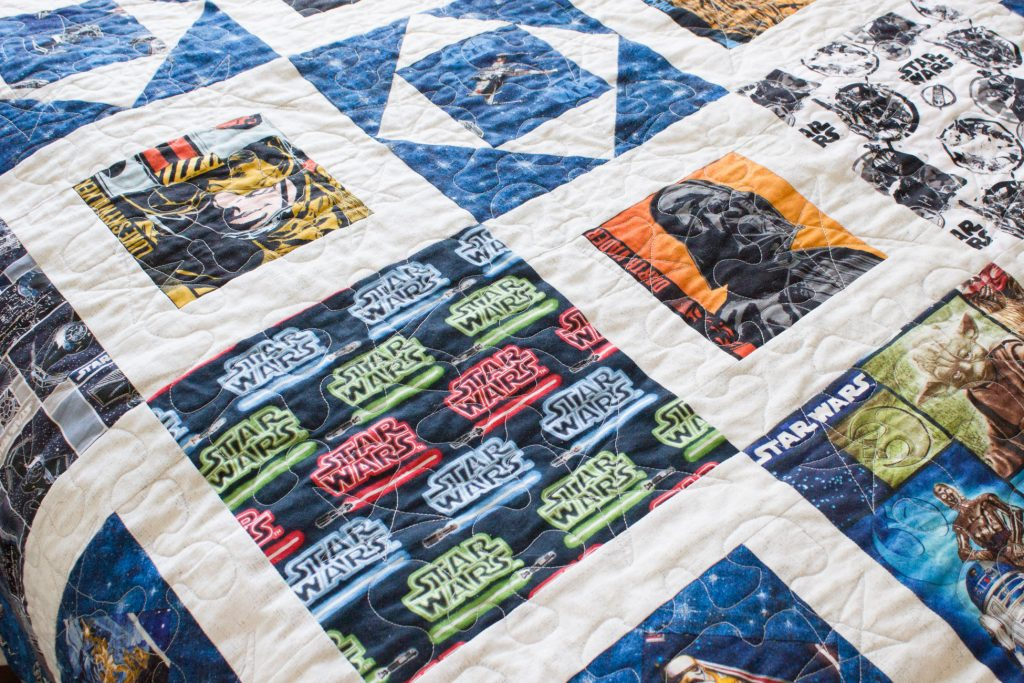 Check out this awesome handmade Star Wars quilt, plus boys' bedroom makeover plans!