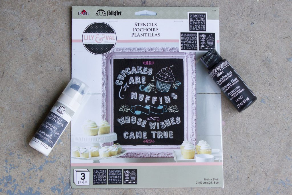 Check out new FolkArt Lily & Val Stencils and Erasable Chalk!