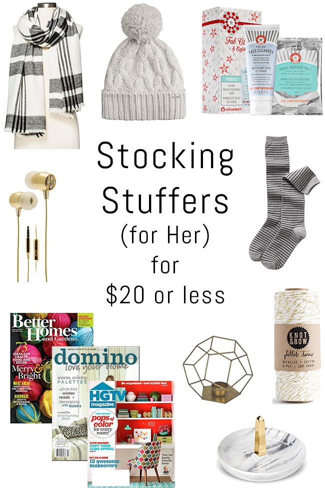 Holiday gift guide stocking stuffers for 20 or less for Good ideas for stocking stuffers