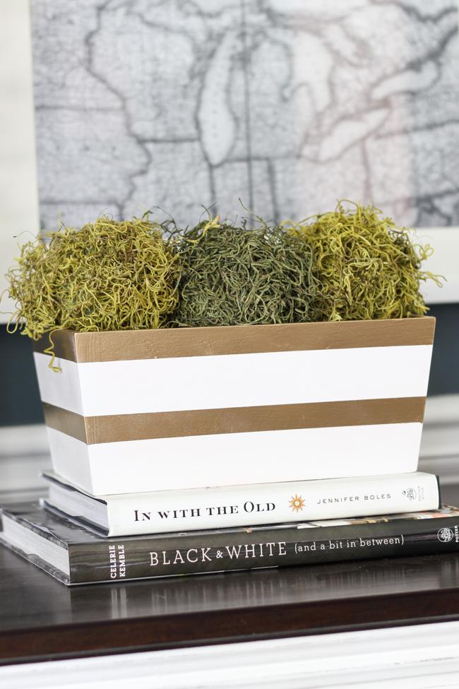 Thrift Store Transformations: Striped Box. #SwapItLikeItsHot Blog Swap.