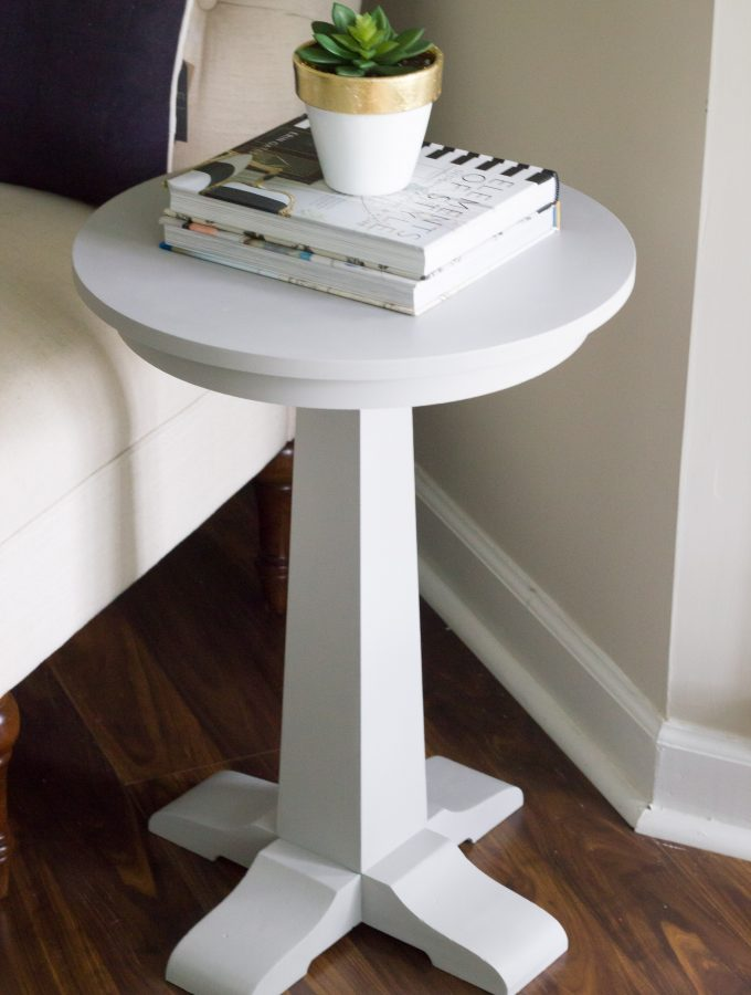 Side Table Makeover with FolkArt Home Decor Chalk