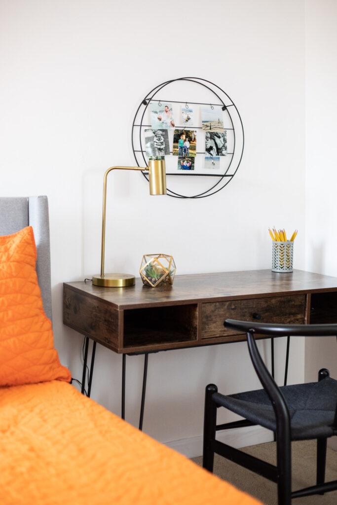 Desk in teen room.