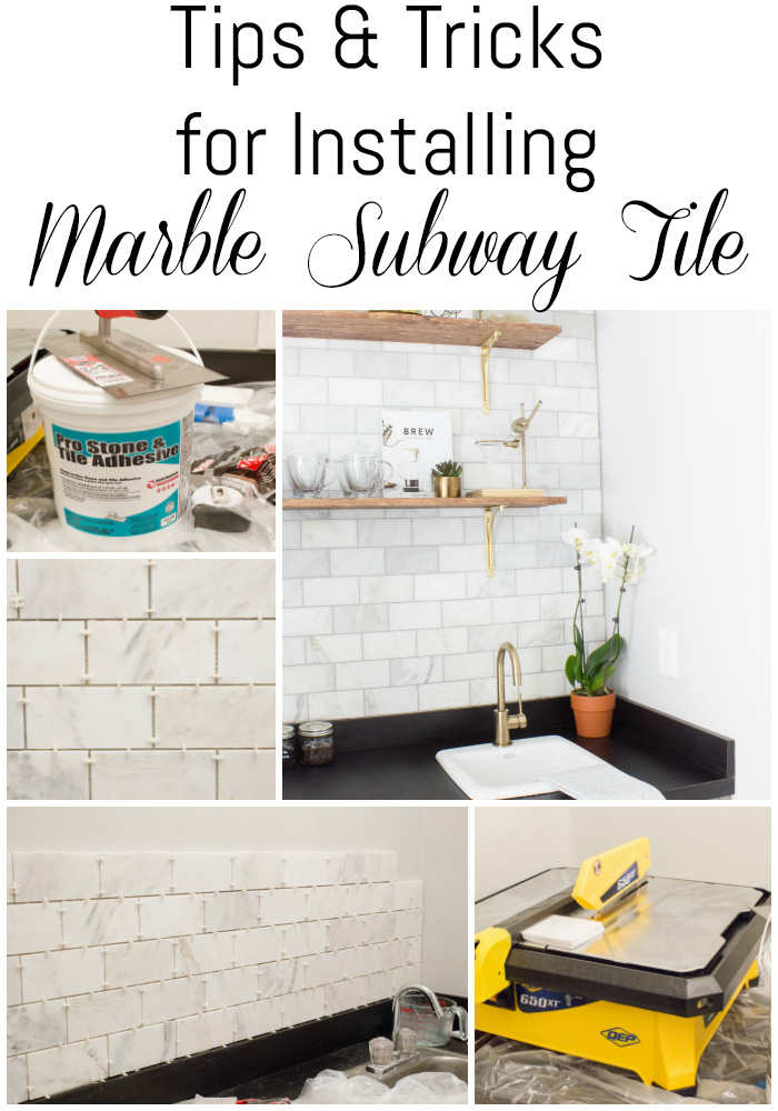 This is SO helpful! If you're thinking of installing marble subway tile, this list of tiling tips are a MUST read!