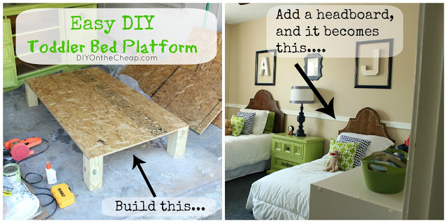 Easy DIY Toddler Bed Platform