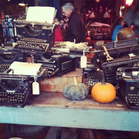 Typewriters at Antique Archaeology in Nashville