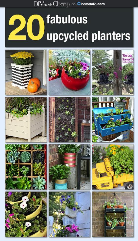 20 Fabulous Upcycled Planters