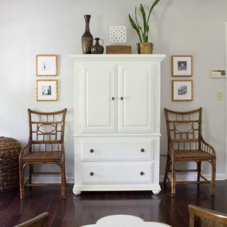 Loving these vintage bamboo chairs! See these and more thrifted items styled in bloggers' homes for the Thrifty Style Series.