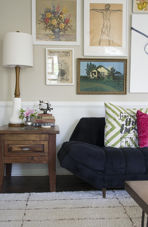 Rustic Mid-Century Living Room Makeover by Hearts & Sharts, featured at #DIYLikeaBoss