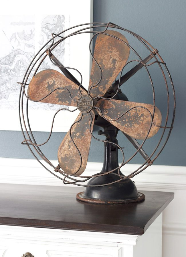 Decorating with a Vintage Fan {Thrifty Style Series}