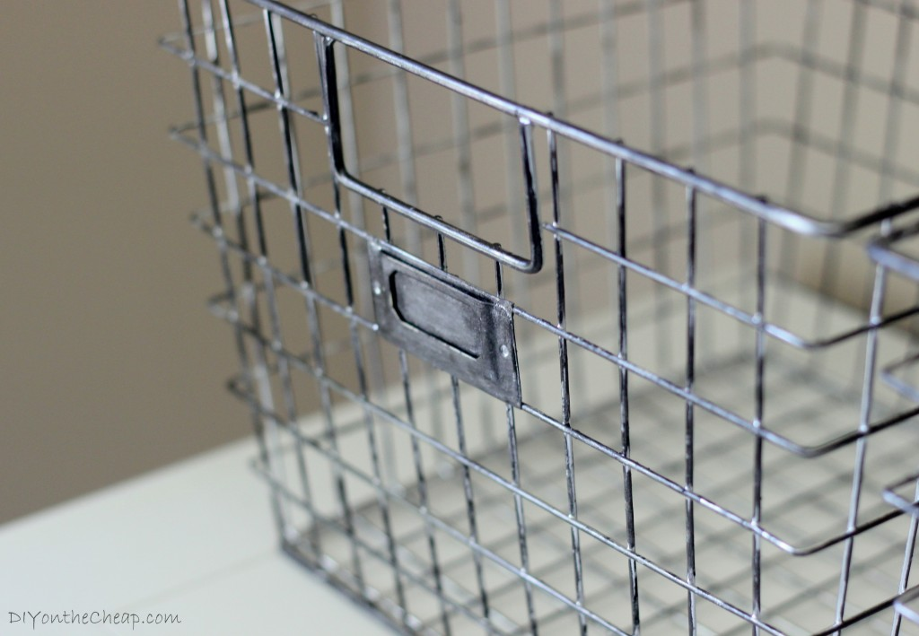 New Locker Baskets turned Vintage Industrial: How to make metal look aged