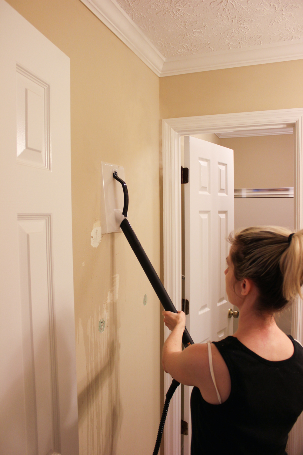 How to Remove Wallpaper Without Chemicals {Even if it's Been Painted Over} - Erin Spain
