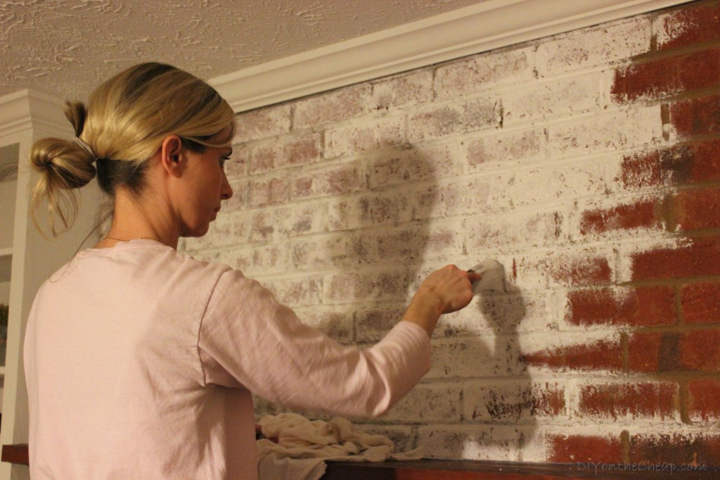 how to how to whitewash stone fireplace : How to Whitewash a Brick Fireplace - Erin Spain