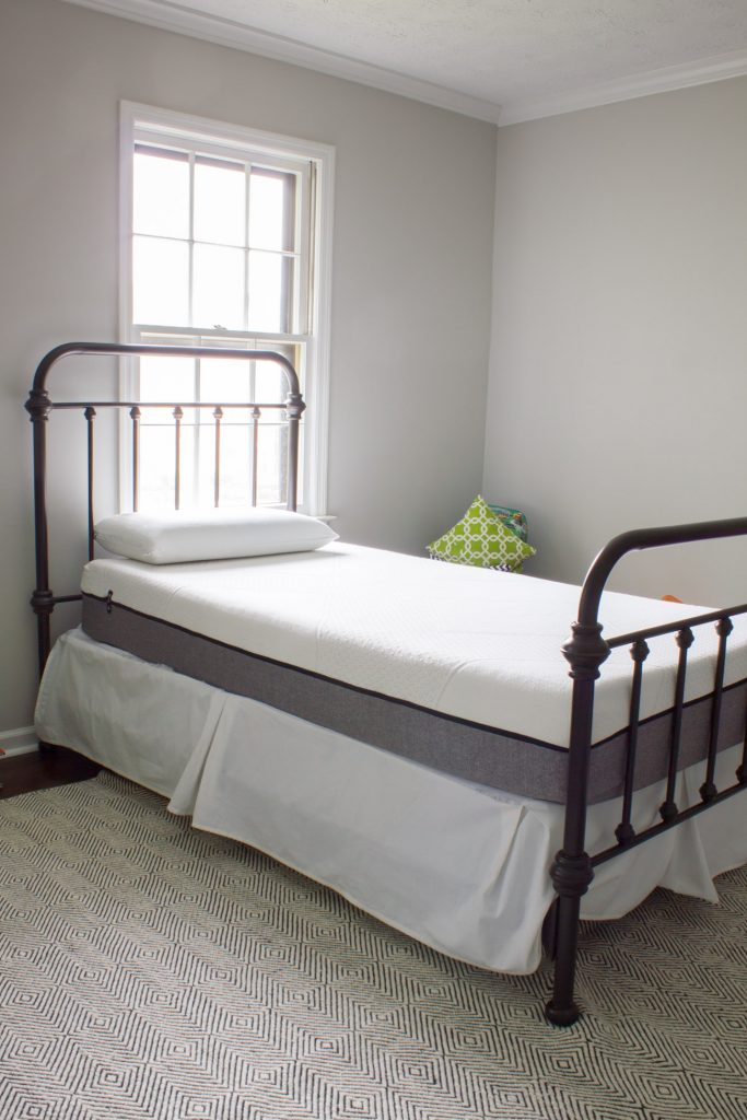 Check out the progress in our boys' bedroom, plus find out why we love Yogabed mattresses so much!