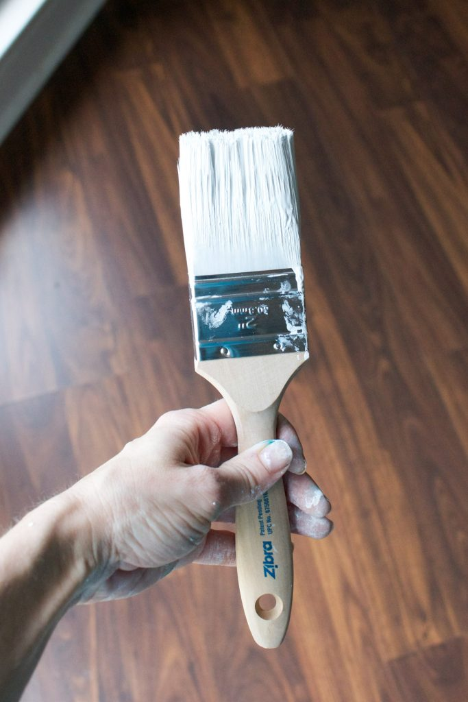 The Zibra Chiseled Wedge Paintbrush is a must have for DIY projects!
