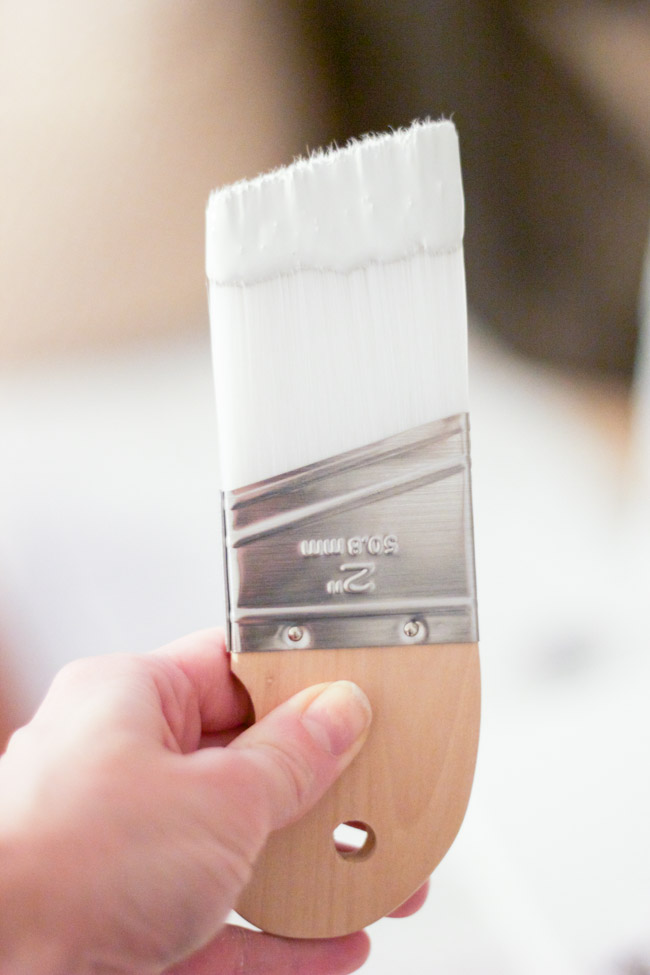 Zibra Paintbrushes: The Angled Brush is amazing for cutting in along baseboards and ceilings, and the triangle brush is perfect for corners and nooks and crannies.
